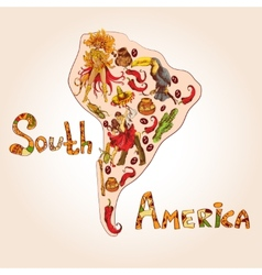 South america sketch concept vector