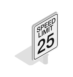 Speed limit road sign icon isometric 3d style vector image