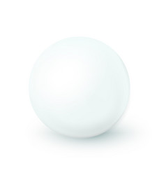 Sphere white ball mock up clean round the vector