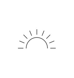 sunrise icon editable stroke sun rise symbol vector image