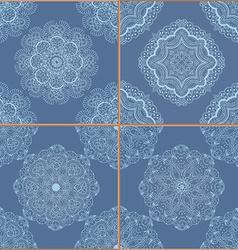 Tiles Floor Ornament Collection vector