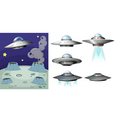 ufo on the space vector image