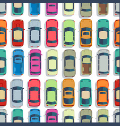 urban cars seamless texture background vector image