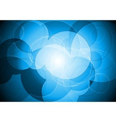 Vibrant blue circle design vector image