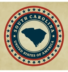 Vintage label South Carolina vector