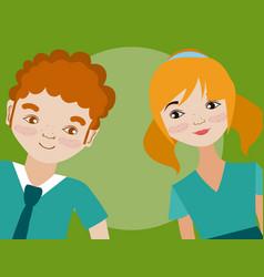 young couple cartoon vector image