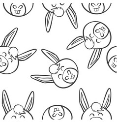 art of animal head doodles vector image vector image