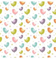 birdies seamless big vector image