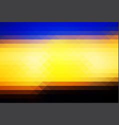 blue yellow orange black rows of triangles vector image vector image