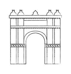 castle building icon image vector image