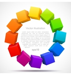 Colored cubes 3D vector image