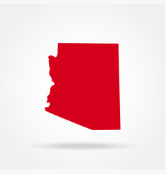 map of the us state of arizona vector image