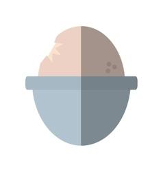 soft boiled egg breakfast design shadow vector image