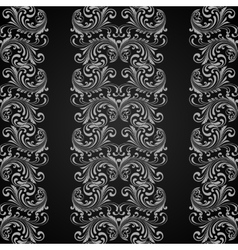 Vertical grey seamless pattern vector image