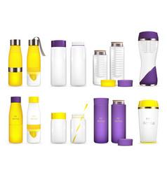water cooler bottles set vector image vector image
