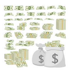 business concept set of dollar sign money vector image vector image