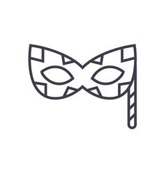 carnaval mask line icon sign vector image