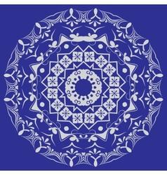 Circular pattern in mandala style Set vector image