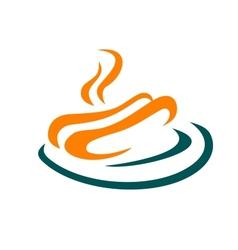 Fastfood or takeaway food hotdog icon vector image