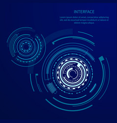 futuristic interface with many geometric shapes vector image
