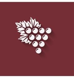 grapes wine design element vector image vector image