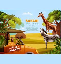 Safari colored poster vector