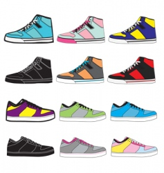 sneakers set illustration vector image vector image