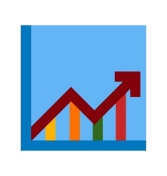 Trend in Graph vector image vector image