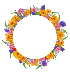 banner with flowers frame vector image vector image