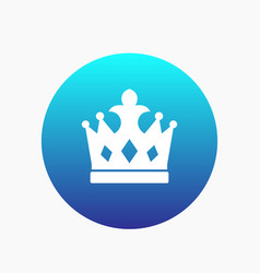 crown icon monarch sign vector image