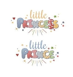 Cute Lettering vector image vector image
