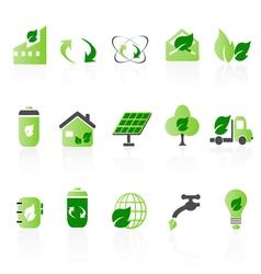 Green icon sets big vector