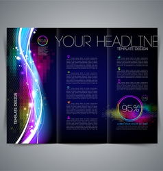 Template leaflet page design vector image vector image
