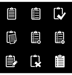 white check list icon set vector image