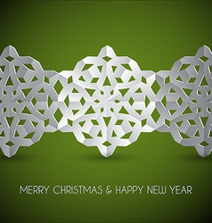 white paper christmas snowflakes vector image
