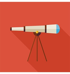 Flat Space Instrument Telescope with long Shadow vector image vector image