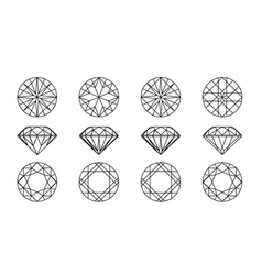 gemstone wire frame vector image vector image