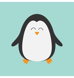 Penguin smiling face Cute cartoon character Arctic vector image