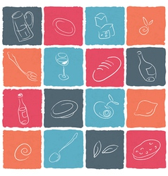 restaraunt icons vector image vector image