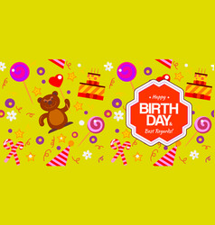 seamless pattern for birthday vector image