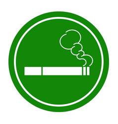 sign smoking area vector image vector image