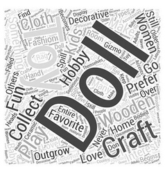 Toy hobby word cloud concept vector