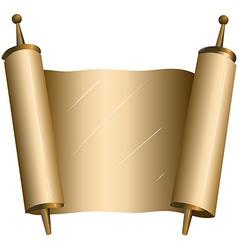 Traditional Jewish Torah Scroll vector image vector image