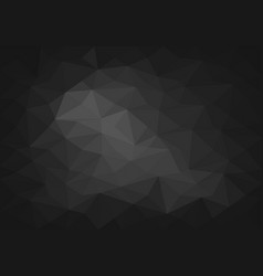 Abstract black tone polygon 3d background vector