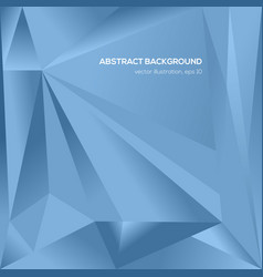 Abstract blue triangle geometrical background vector
