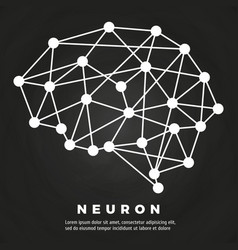 Abstract brain neural network poster design vector