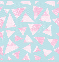 Abstract pink color triagnles pattern vector