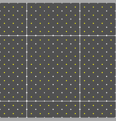abstract white yellow dots pattern background vect vector image