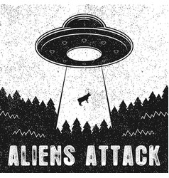 aliens attack vector image