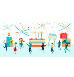 Birthday celebration concept vector